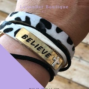 Believe Animal Print Braclet